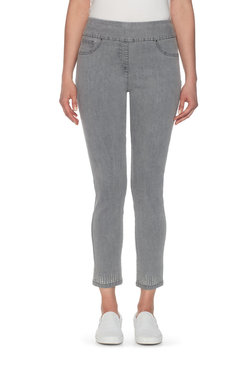 Petite Pull-On Stretch Pant with Embellished Ankle