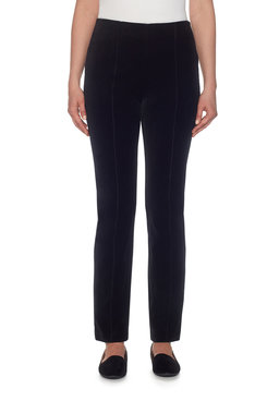 Image: Petite Pull-On Velveteen Stretch Pant