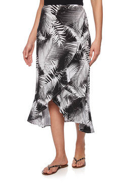 Image: Petite Rainforest Ruffle Split Skirt