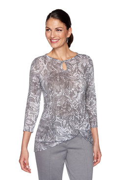 Image: Petite Shimmer Printed Top
