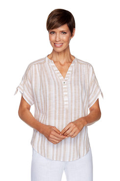 Image: Petite Shore Striped Top