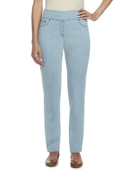 Petite Stretch Faux Pocket Jeans