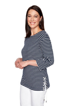 Image: Petite Stripe Terry Top