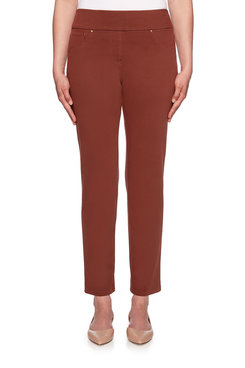 Image: Petite Western Knitted Twill Pant