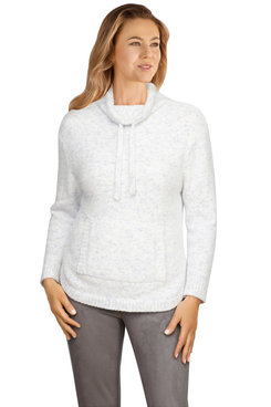 Image: Petite Women's Speckled Chenille Sweater