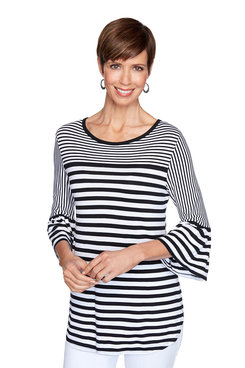 Image: Pique Striped Top