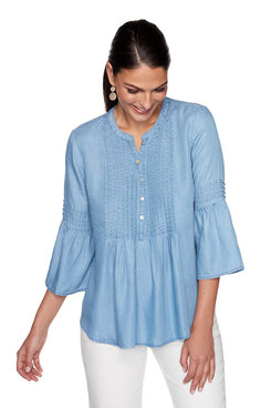 Image: Pleated Tencel Top