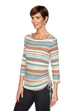 Image: Plus Autumn Stripe Top