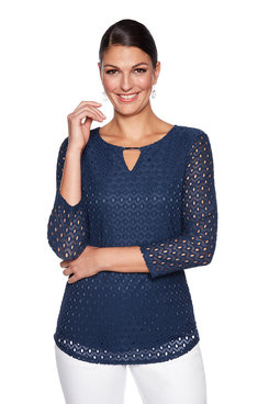 Image: Plus Bead Eyelet Top