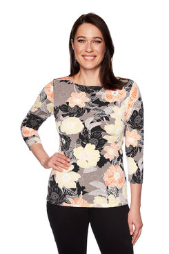 Image: Plus Blooms Puff Print Top