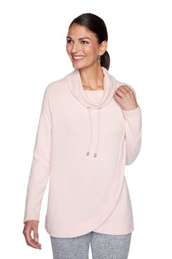 Image: Plus Blush Heather Cowl Neck Pullover