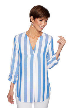 Image: Plus Cabana stripe Top