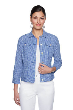 Image: Plus Capri Gingham Jacket