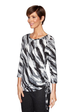 Image: Plus Cascade Ruched Top