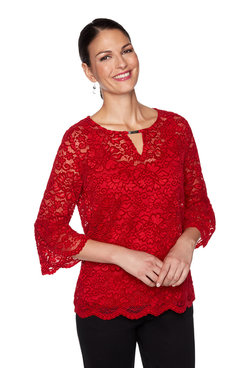 Image: Plus Chenille Lace Top
