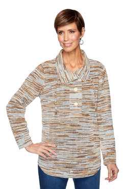 Image: Plus Chenille Space dye Pullover