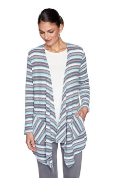 Image: Plus Chenille Striped Cardigan