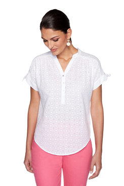 Image: Plus Circle Eyelet Top