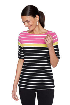 Image: Plus Colorblock Striped Top