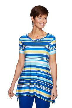 Image: Plus Cool Stripe Top