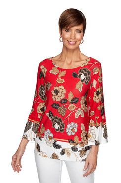 Image: Plus Country Floral Top