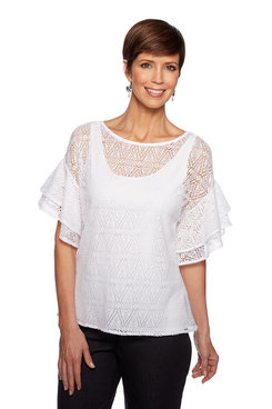 Image: Plus Diamond Bell Sleeve Top
