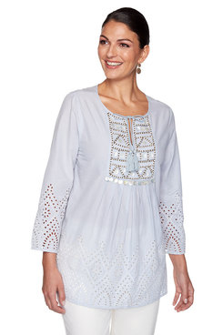 Image: Plus Embellished Cambric Top