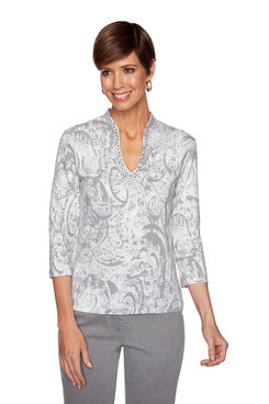 Image: Plus Embellished Mosaic Top