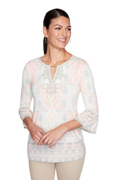 Image: Plus Embellished Printed Top