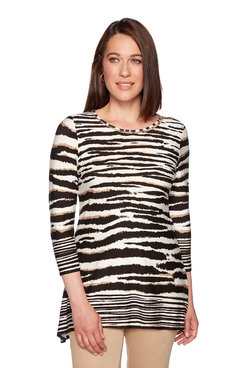 Image: Plus Embellished Zebra Top