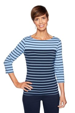 Image: Plus Engineered Stripe Top