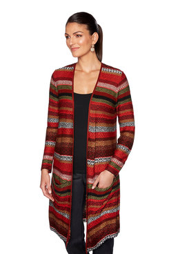 Image: Plus Float Jacquard Cardigan