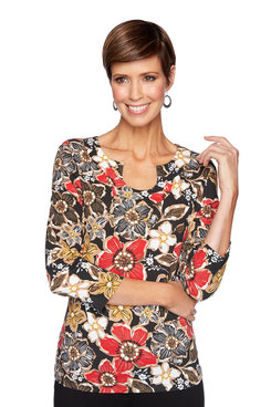 Image: Plus Floral Autumn Top