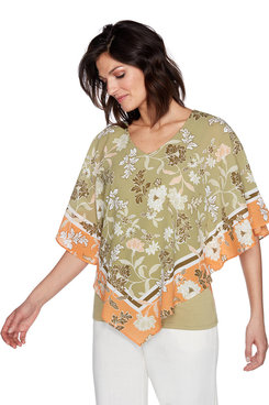 Image: Plus Floral Butterfly Top