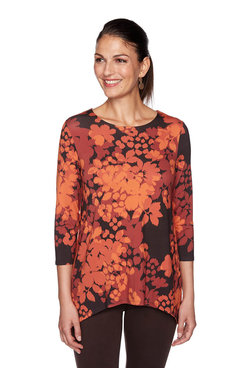 Image: Plus Floral Shadow Print Top