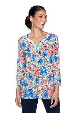 Image: Plus Floral Watercolor Top