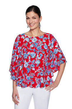 Image: Plus Flower Vine Butterfly Top