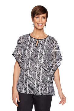 Image: Plus Flowy Tribal Print Top