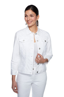 Image: Plus Geo Lace Trim Jacket