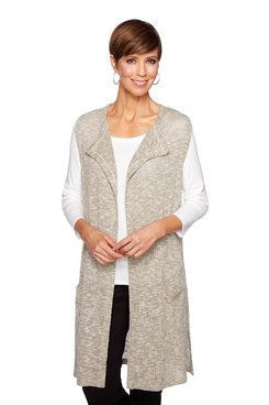 Image: Plus Heathered Metallic Vest