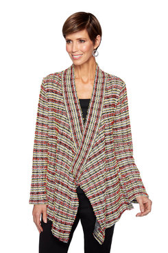 Image: Plus Jacquard Stripe Cardigan