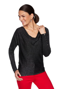 Image: Plus Metallic Solid Sweater