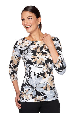 Image: Plus Midnight Floral Top