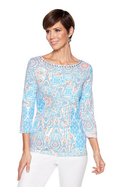 Image: Plus Moroccan Paisley Knit Top