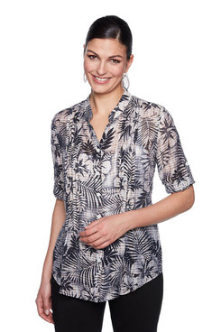 Image: Plus Must Have Hibiscus Top