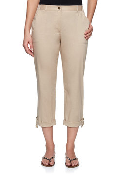 Image: Plus Natural Poplin Capri
