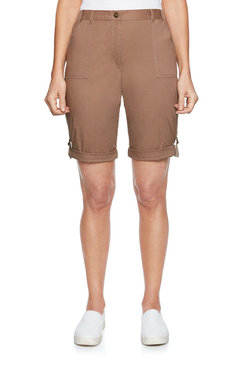 Image: Plus Natural Poplin Shorts