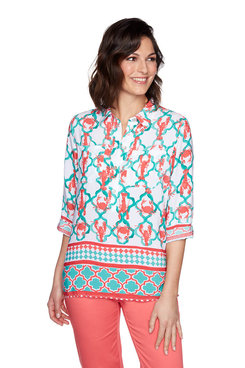 Image: Plus Oceania Printed Top
