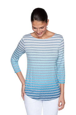 Image: Plus Ombre Stripe Top