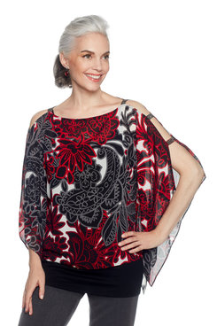 Image: Plus Paisley Party Print Top